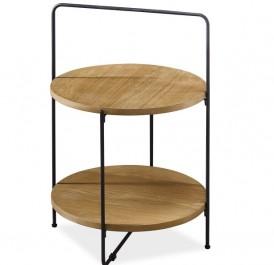 Okrągły stolik pomocniczy z półką Envy