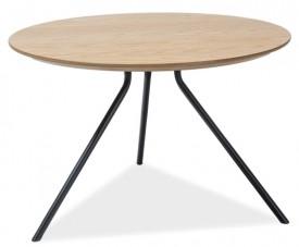 Okrągły stolik do salonu z fornirowanym blatem Toto