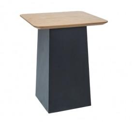 Nowoczesny stolik na metalowej podstawie Tom