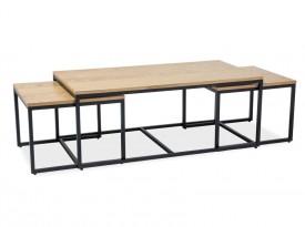 Zestaw 3 stolików do salonu Largo Trio