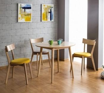 Okrągły stół na drewnianych nogach Nelson