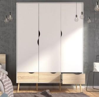 Szafa Oslo 3D3S w stylu skandynawskim