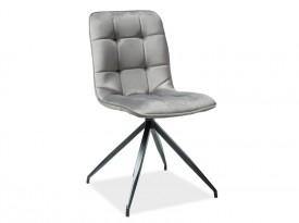 Krzesło tapicerowane tkaniną aksamitną Texo