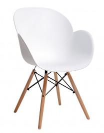 Krzesło na bukowym stelażu Flower Wood