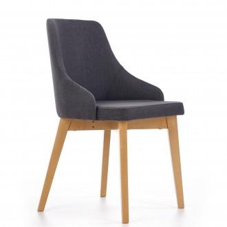 Wygodne krzesło na drewnianych nogach w kolorze dąb miodowy Toledo