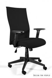 Krzesło biurowe z regulowanymi podłokietnikami Black on Black Plus