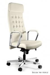 Skórzany fotel biurowy Ares HL beż