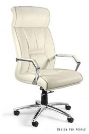 Fotel biurowy z ekoskóry Celio PU beż