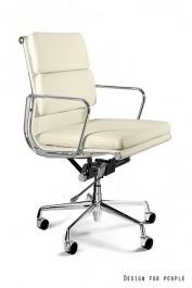Skórzane krzesło do gabinetu Wye Low HL beż