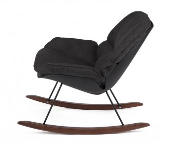 Tapicerowany fotel bujany Nino czarny