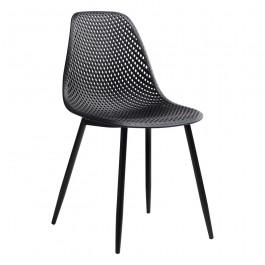 Krzesło z polipropylenu na metalowej podstawie Tivo
