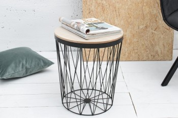 Designerski stolik ze zdejmowanym blatem Turret