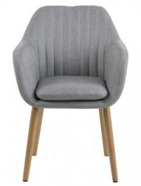 Tapicerowane krzesło na dębowych nogach Emilia