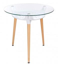 Okrągły stół na drewnianych nogach Hide Fi80