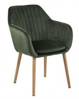 Tapicerowane krzesło na dębowych nogach Emilia Velvet