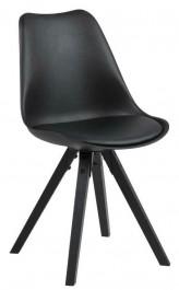 Nowoczesne krzesło z poduszką z ekoskóry Dima