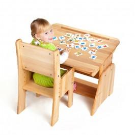 Drewniane biurko z regulacją Ecodesk B-190