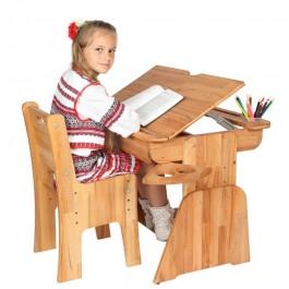 Drewniane biurko dla dzieci Ecodesk E-190