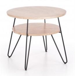 Okrągły stolik laminowany z półką Ezra 2