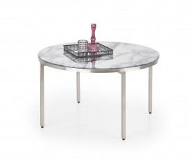 Stolik ze szklanym blatem w imitacji marmuru Mangusta
