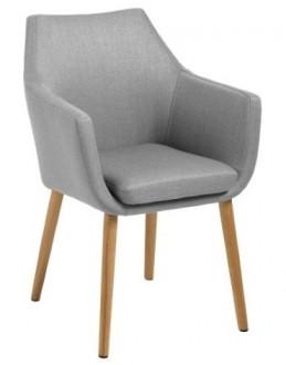 Tapicerowane krzesło z poduszką Nora tkanina