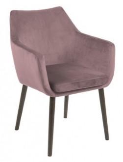 Tapicerowane krzesło z poduszką Nora Vic welur