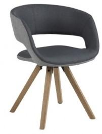 Nowoczesne krzesło na dębowych nogach Grace Cross