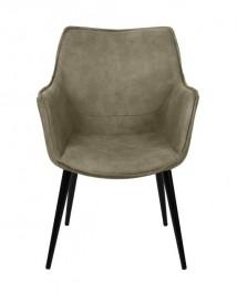 Komfortowe krzesło z ekoskóry Yule