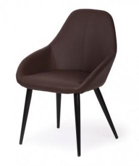 Krzesło tapicerowane skórą ekologiczną Joy