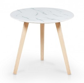 Pomocniczy stolik na drewnianych nogach Aida
