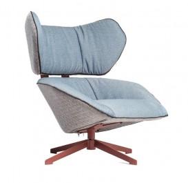 Designerski fotel wypoczynkowy z obrotową konstrukcją Malabo