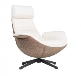 Obrotowy fotel wypoczynkowy z miękkim siedziskiem Bufalo