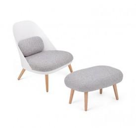 Fotel wypoczynkowy z poduszkami i podnóżkiem Alabama