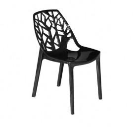 Krzesło z poliwęglanu z ażurowym oparciem Toskania