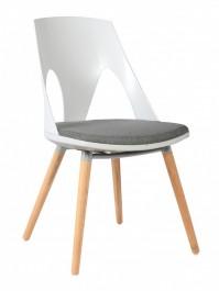 Krzesło z tworzywa na dębowych nogach Cordoba 2