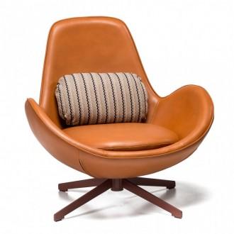 Obrotowy fotel wypoczynkowy z poduszką Salamanka