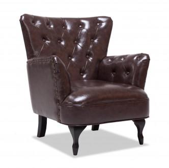 Fotel wypoczynkowy z ekologicznej skóry Cubano