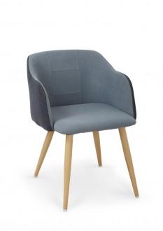 Tapicerowane krzesło na metalowych nogach K288
