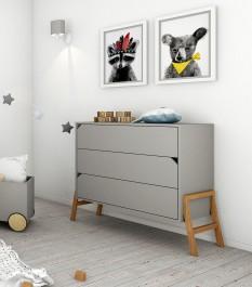Komoda dziecięca z 3 szufladami Lotta Grey