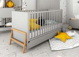 Łóżeczko dziecięce 70x140 z funkcją tapczanika Lotta Grey