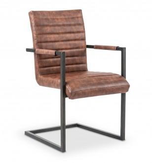 Tapicerowane krzesło na metalowych nogach K302