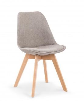 Tapicerowane krzesło na drewnianych nogach K303