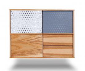 Komoda wisząca z szafkami i szufladami H High
