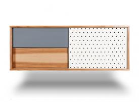 Komoda wisząca z szafką i szufladami H Basic