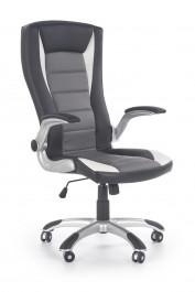 Obrotowy fotel z ekoskóry Upset czarny / biały