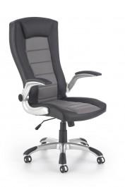 Obrotowy fotel z ekoskóry Upset czarny