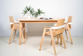 Rozkładany stół z litego drewna jesionowego T