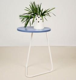 Stolik pomocniczy z okrągłym blatem Kile