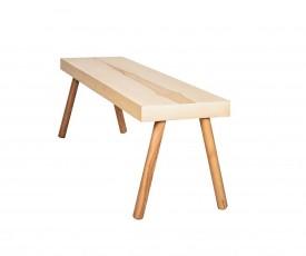 Ławka do salonu na drewnianych nogach J