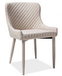Krzesło z tapicerowanymi nogami Colin beż